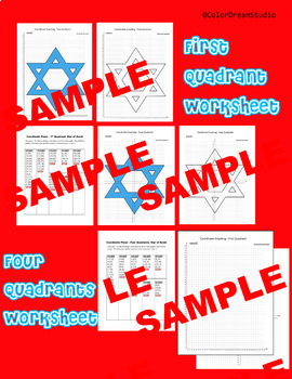 Coordinate Graphing Picture: Hanukkah Bundle 3 in 1