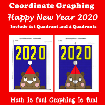Coordinate Graphing Picture: Happy New Year 2018