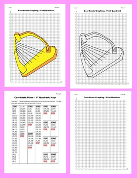 Coordinate Graphing Picture: Harp