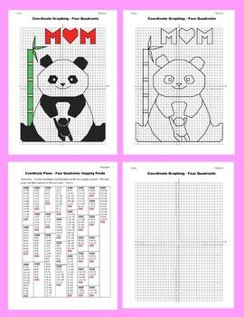 Coordinate Graphing Picture: Hugging Panda