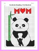 Mother's Day Coordinate Graphing Picture: Hugging Panda