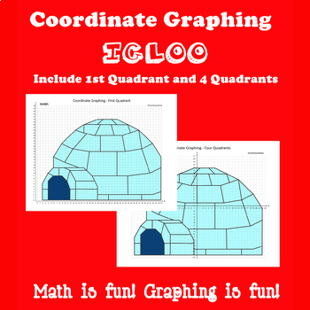 Winter Coordinate Graphing Picture:Igloo