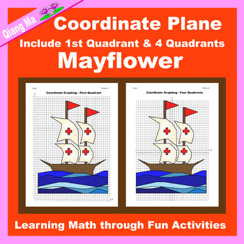 Coordinate Graphing Picture: Mayflower