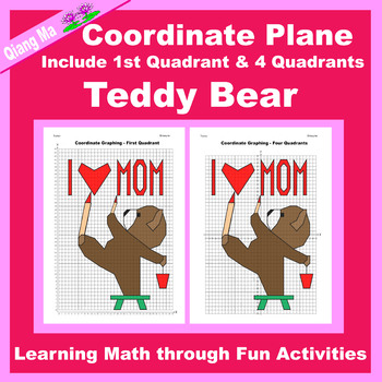 Mother's Day Coordinate Graphing Picture: Mother's Day Bundle 4 in 1
