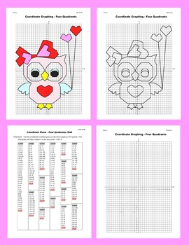 Coordinate Graphing Picture: Owl