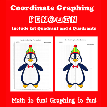 Winter Coordinate Graphing Picture:Penguin