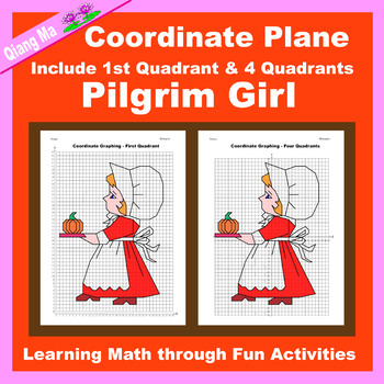 Coordinate Graphing Picture: Pilgrim Girl