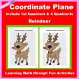 Christmas Coordinate Graphing Picture: Reindeer
