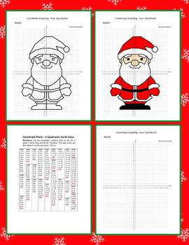 Christmas, Coordinate Drawing, Coordinate Graphing, Mystery Picture