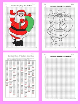 Coordinate Graphing Picture: Santa Claus