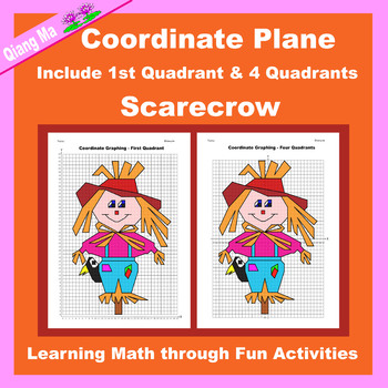 Halloween Coordinate Graphing Picture: Scarecrow