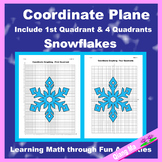Winter Coordinate Graphing Picture: Snowflakes (2)