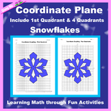 Winter Coordinate Graphing Picture: Snowflakes (3)