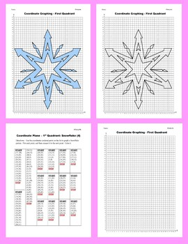 Coordinate Graphing Picture: Snowflakes (4)