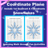 Winter Coordinate Graphing Picture: Snowflakes (4)