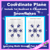 Winter Coordinate Graphing Picture: Snowflakes (5)