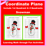Christmas Coordinate Graphing Picture: Snowman