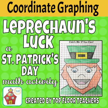 Coordinate Graphing Picture - St. Patrick's Day Theme - Leprechaun
