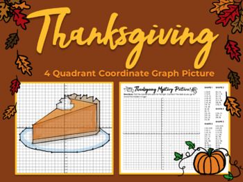 Coordinate Graphing Picture - THANKSGIVING, NOVEMBER