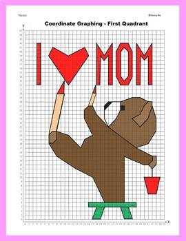 Coordinate Graphing Picture: Teddy Bear