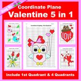 Valentine Coordinate Graphing Picture: Valentine Bundle 5 in 1
