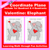 Valentine Coordinate Graphing Picture: Elephant