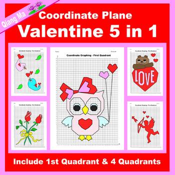 Coordinate Graphing Picture: Valentine Mega Bundle 9 in 1
