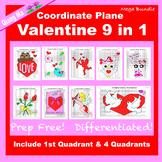 Valentine Coordinate Graphing Picture: Valentine Mega Bundle 9 in 1