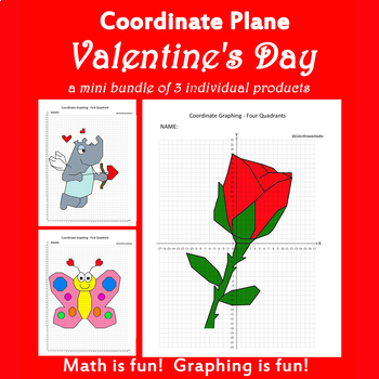 Coordinate Graphing Picture:Valentine's Day Bundlle 2