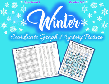 Coordinate Graphing Picture - WINTER, SNOWFLAKE