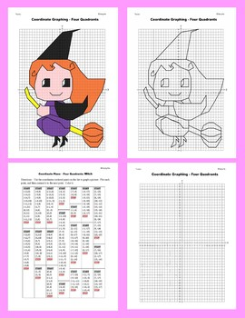 Halloween Coordinate Graphing Picture: Witch