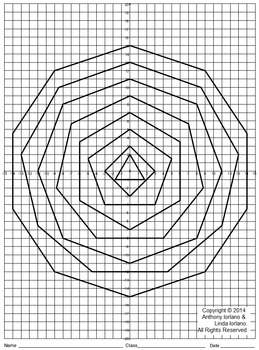 Polygons, Angle Sum, Interior Angle, Coordinate Drawing, Coordinate Graphing