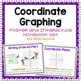 Coordinate Plane Graphing Posters and Interactive Notebook INB Set