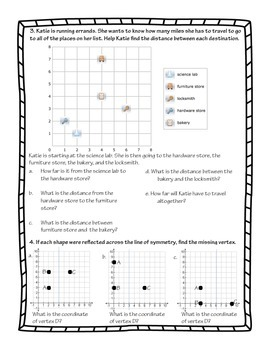 Coordinate Graphing Practice Sheet