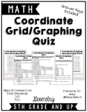 Coordinate Grid Graphing Quiz