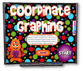 Coordinate Graphing SMART BOARD PROMETHEAN Game (CCSS 5.OA.3, 5.G.1)