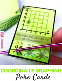Coordinate Graphing Self-Checking Poke Game (CCSS 5.OA.3, 5.G.1)