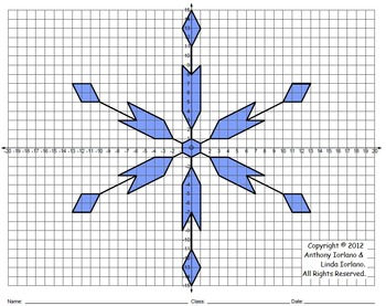Snowflake, Winter, Coordinate Drawing, Coordinate Graphing, Mystery Picture