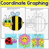 Coordinate Graphing Pictures Ordered Pairs - Spring Activities Mystery Pictures