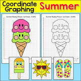 Summer Coordinate Graphing Pictures - Fun End of the Year Math Center Activity