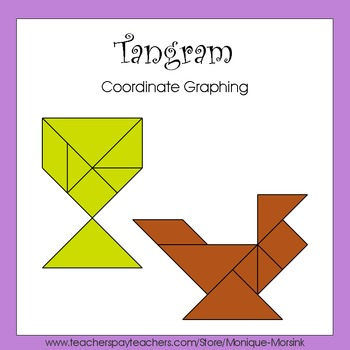 Coordinate Graphing - Ordered Pairs - Tangram Chicken & Egg Cup