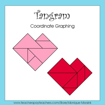 Coordinate Graphing - Ordered Pairs - Tangram Heart