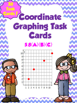 Coordinate Graphing Task Cards