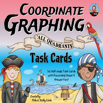 Coordinate Graphing Task Cards {All Quadrants}