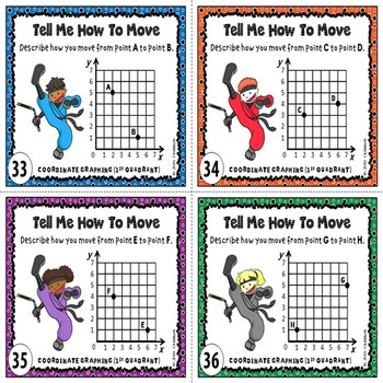 Coordinate Graphing Task Cards {First Quadrant}