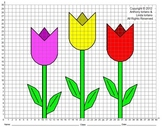 Tulips, Spring, Easter, Mother's Day, Coordinate Drawing,