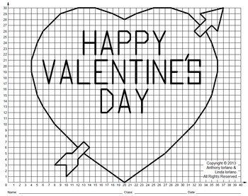 valentine heart coordinate drawing coordinate graphing tpt. Black Bedroom Furniture Sets. Home Design Ideas