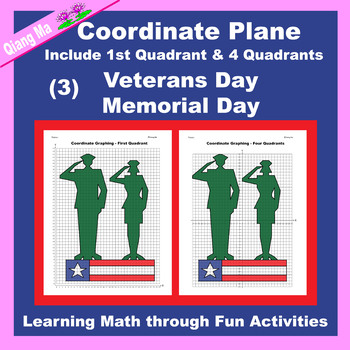 Coordinate Graphing: Veterans Day/Memorial Day (3)