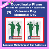 Memorial Day / Veterans Day Coordinate Graphing: Soldier (3)