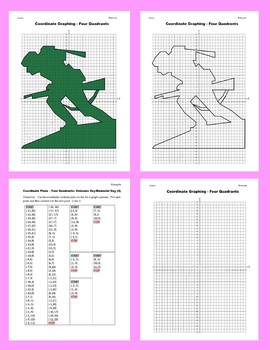 Coordinate Graphing: Veterans Day/Memorial Day (4)